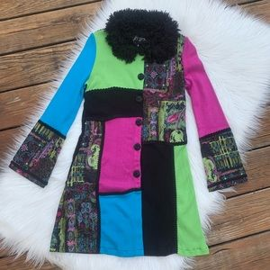 BEREK Vintage Patchwork Cardigan Tunic Sweater S